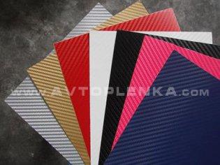 Фото пленки под карбон в разных цветах