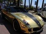 авто винил на авто цвета золота