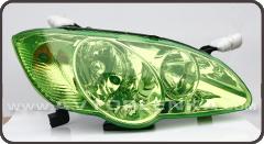 Зеленная пленка для тонировки фар КК