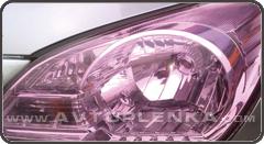 Сиреневая пленка КК для оптики авто