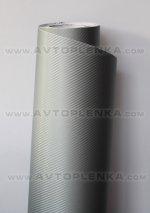 Пленка под Карбон 3D TR-1 Серебро