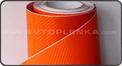 Пленка под Карбон 3D TR-1 Оранжевый