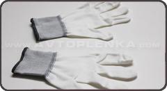 Перчатки для оклейщика авто Белые