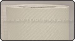 3D авто карбон Белый CATPIANO