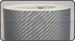 Карбоновая пленка - Серебро 3D CATPIANO