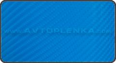 Синий 4D карбон под лаком Catpiano