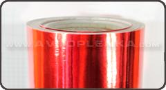 Пленка под красный металл хром 3D Luxon™