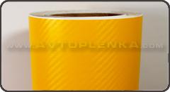 Пленка под Карбон 3D TR-1 Желтый
