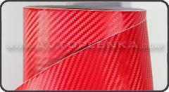 Пленка под Карбон 3D TR-1 Бордовый
