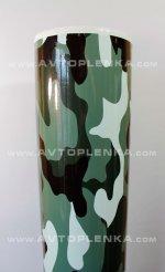 Пленка камуфляж Серо-Зеленая глянцевая