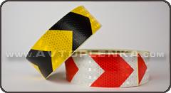Желто-Чераня светоотраж. лента для маркировки