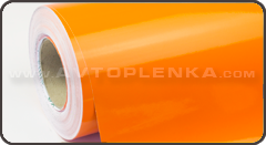 Оранжевая (Sunset Orange) глянцевая пленка KPMF K88441