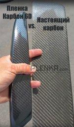 Черный 6D карбон Luxon™ пленка для авто