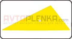Треугольный пластиковый скребок жёлтый