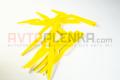 Шпатель мягкий желтый с ручкой